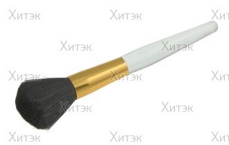 Кисточка для пудры профессиональная с ручкой из плексигласа
