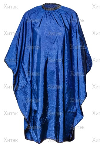 """Пеньюар """"Комфорт"""" на крючках 125х150 см тёмно-синий"""