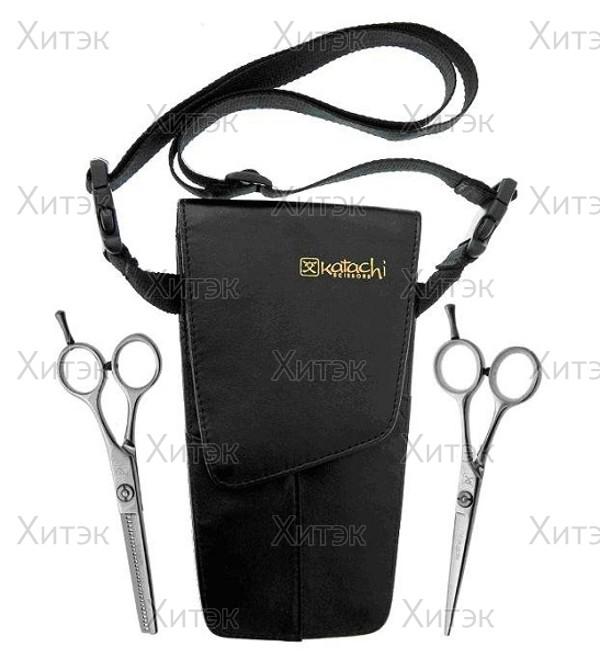 Комплект парикмахерских ножниц в чехле