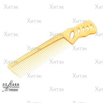 Расчёска с ручкой для диагональной стрижки арт. YS-238 camel