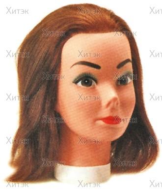 Голова учебная CANDY со 100% естественными волосами 20/35 см