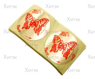 """Стикини """"Бабочки"""", диа.52мм (100 пар)"""