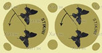 """Стикини """"Бабочки малые"""", д.45мм+стикини на родинки, (100 пар"""